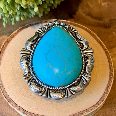 Turquoise Tear Drop Cell Phone Grip