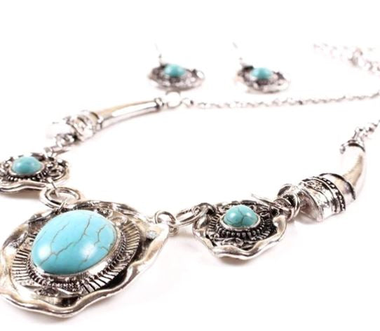 Zara Turquoise Necklace Set