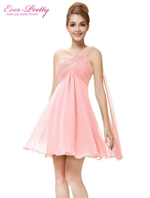 265ba90802 Cocktail Dresses Ever Pretty One Shoulder Ruffles Padded - best4styles