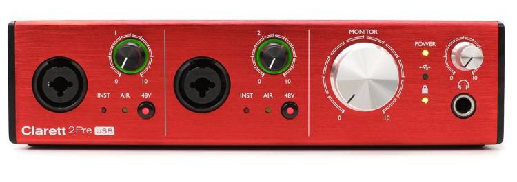 ac/audio interface CLARETT 2PRE USB INTERFACE
