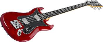 bass-H8II-WCT Wild Cherry Trans Retroscape H8 Reissue Mahogany RETROSCAPE SERIES - 8-STRING BASS