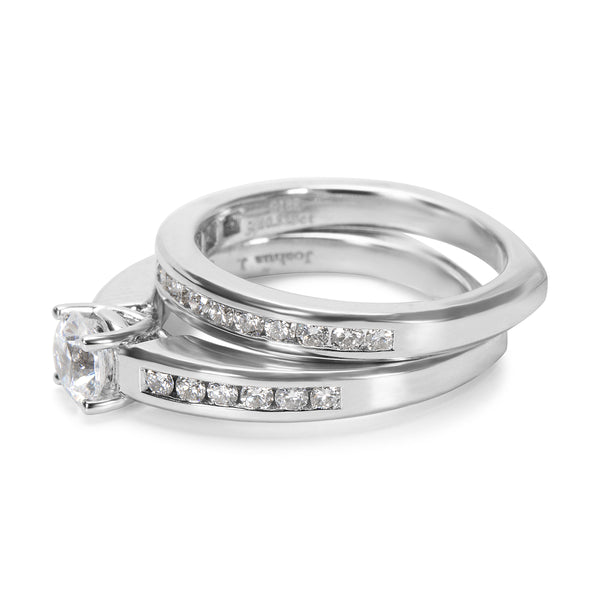 BRAND NEW Diamond Engagement Wedding Set in 18k White Gold (0.58 CTW)