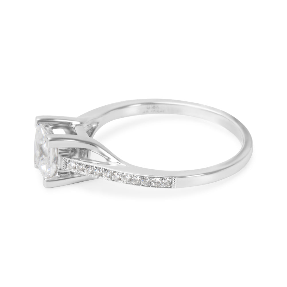 BRAND NEW Diamond Engagement Ring Setting in 18k White Gold (0.10 CTW)