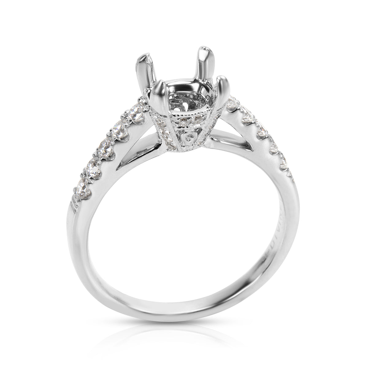 BRAND NEW Diamond Engagement Ring Setting in 14KT White Gold  (0.38 CTW)