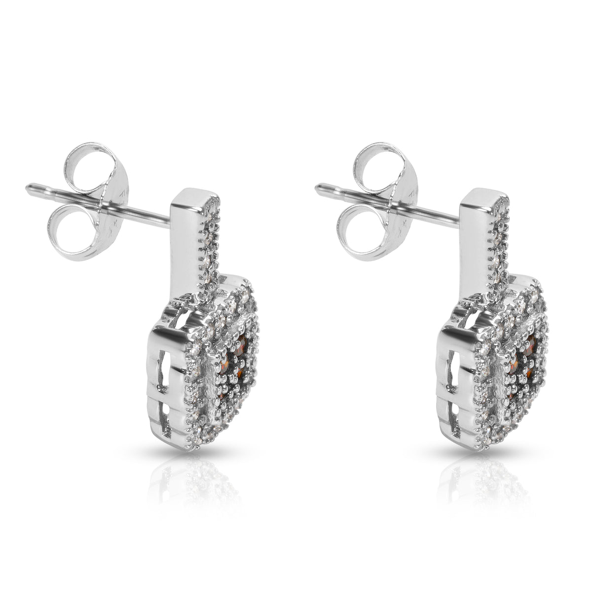 BRAND NEW Fashion Earrings in 14K White Gold with Diamonds (0.50 CTW)