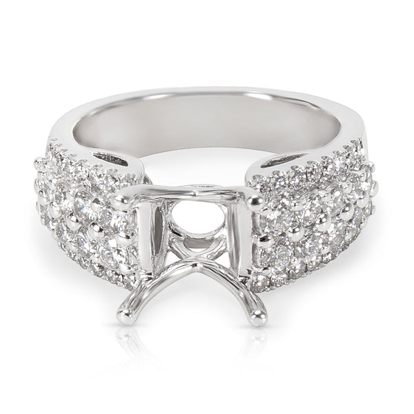 BRAND NEW Engagement Ring Setting in 14K White Gold (0.97 CTW)