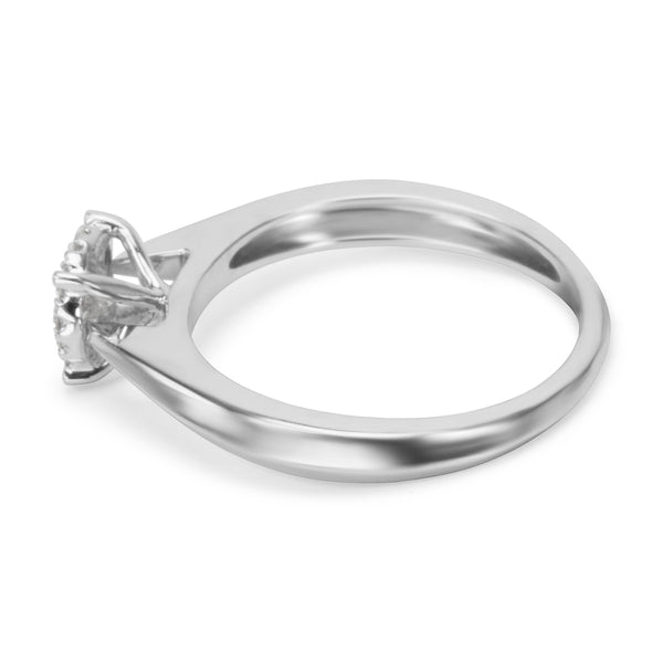 BRAND NEW Diamond Cluster Engagement Ring in 14K White Gold (.25 CTW)