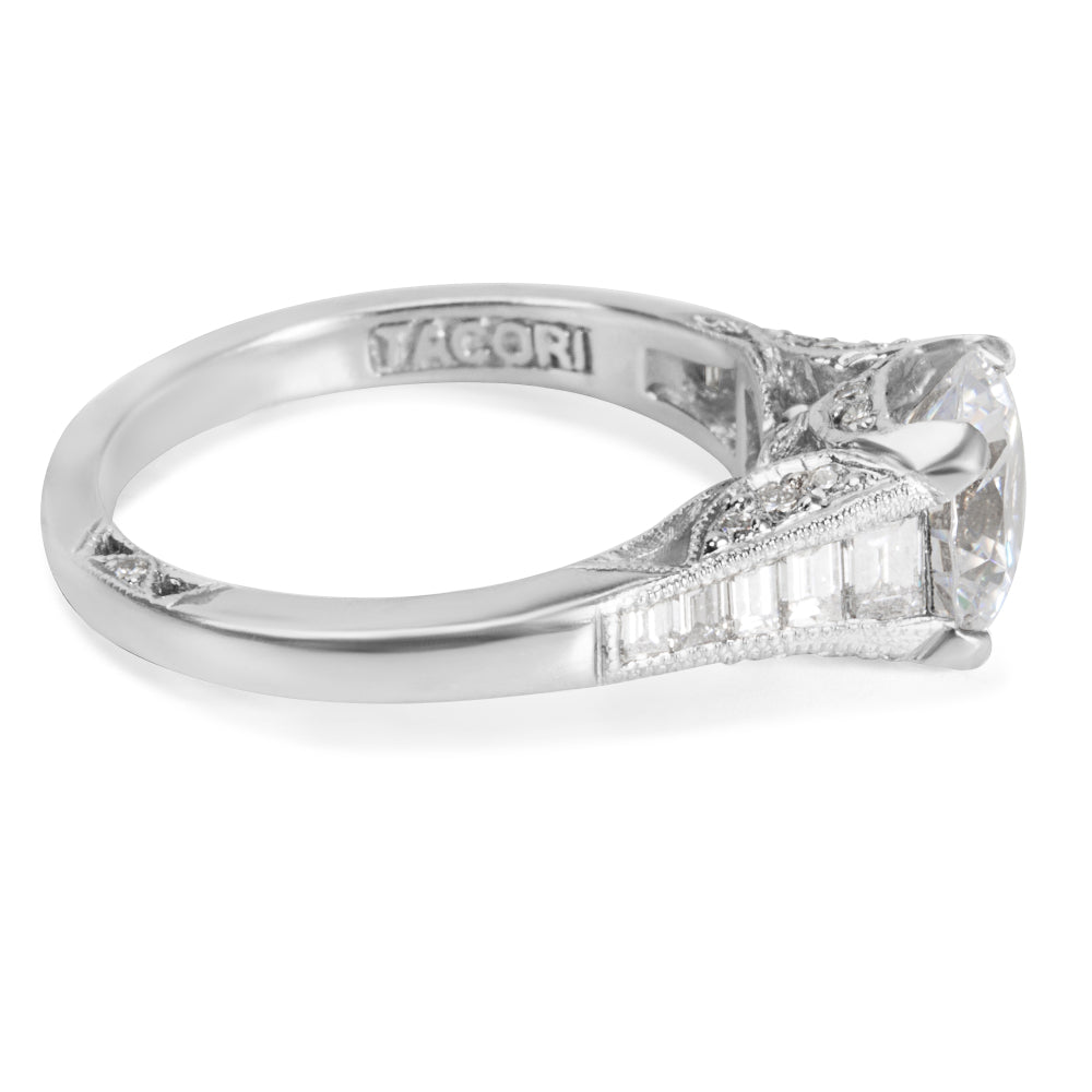 NEW Tacori Diamond Engagement Ring Setting in Platinum 2577 RD 7.5 (0.70 CTW)