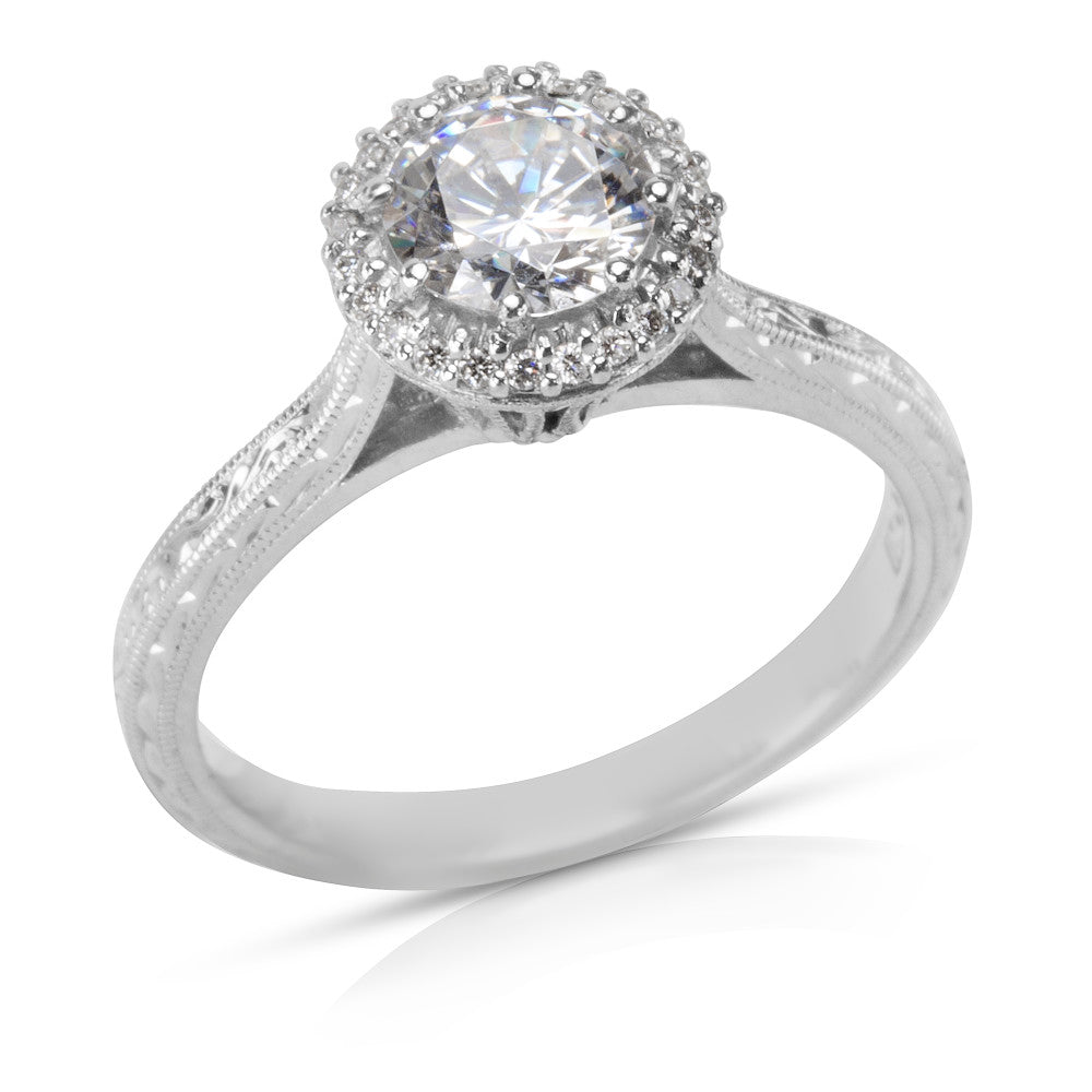 BRAND NEW Tacori Halo Engagement Ring Setting in Platinum 2502 RDE 6  (0.13 CTW)