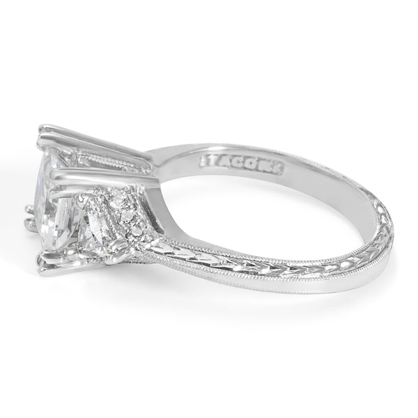NEW Tacori Diamond Engagement Ring Setting in Platinum HT 2346 (0.65 CTW)