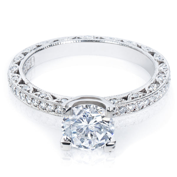 BRAND NEW Tacori Engagement Ring Setting in Platinum HT 2257 D A (1/2 CTW)