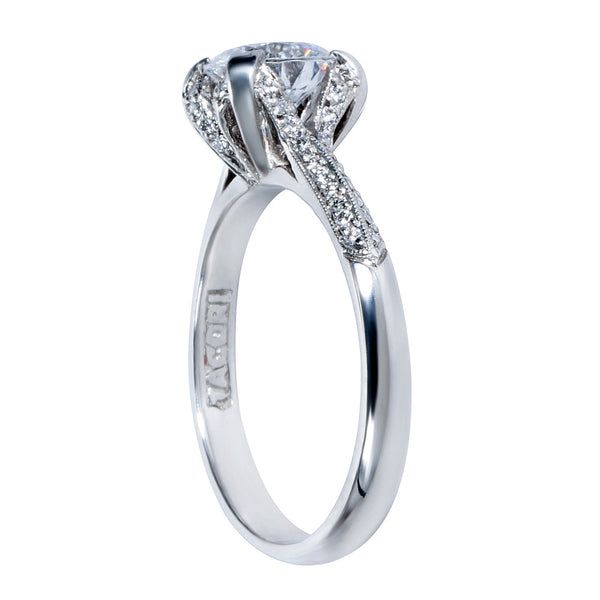 BRAND NEW Tacori Engagement Ring Setting in Platinum 2536 RD 6.5 (1/10 CTW)