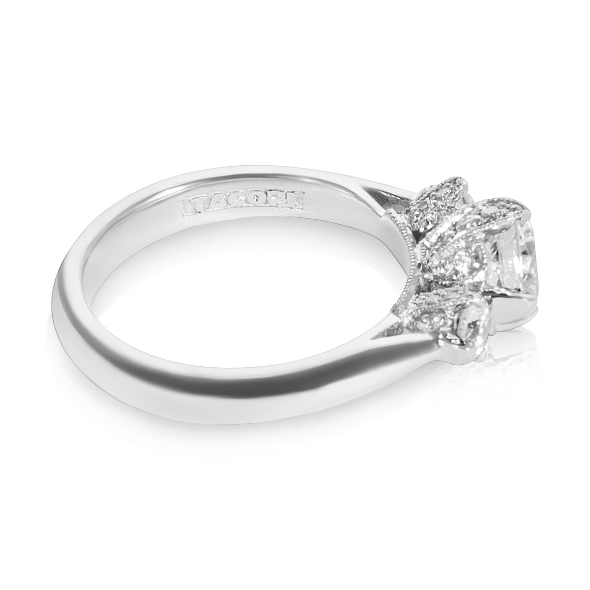 BRAND NEW Tacori 3-Stone Engagement Ring Setting in Platinum (1/2 CTW) HT 2314