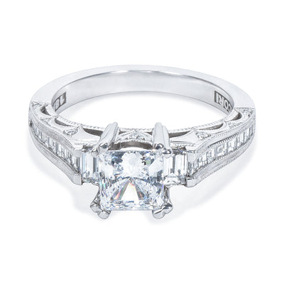 BRAND NEW Tacori 3 Stone Engagement Ring Setting in Platinum (3/4 CTW) HT 2509 P