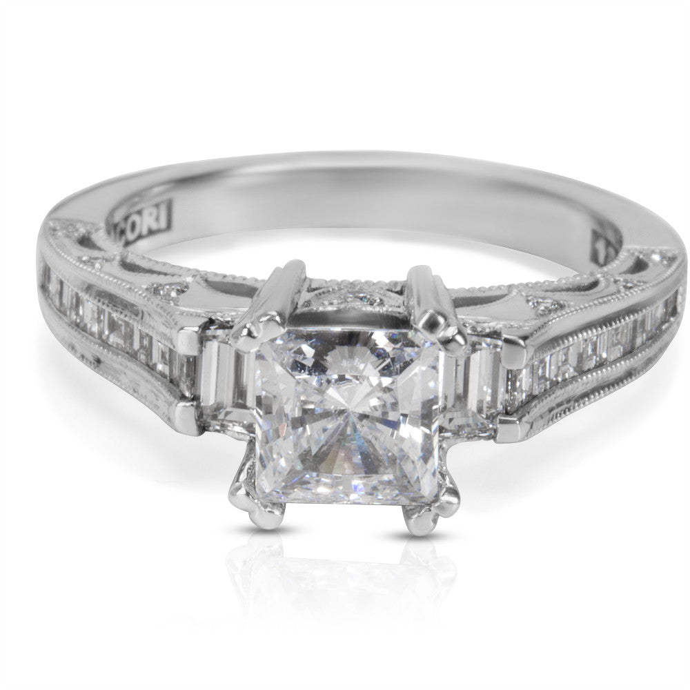 BRAND NEW Tacori Engagement Ring Setting in 18K White Gold HT 2509 PR SM 1/2 W