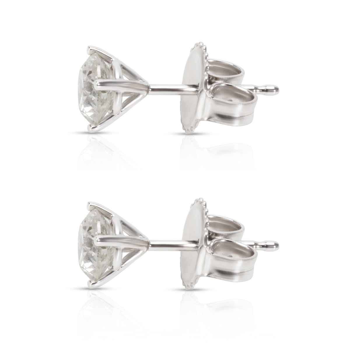 BRAND NEW Diamond Stud Earrings in 14K White Gold (1.05 CTW)