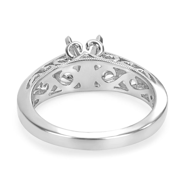 BRAND NEW Diamond Engagement Ring Setting in 14KT White Gold  (0.26 CTW)