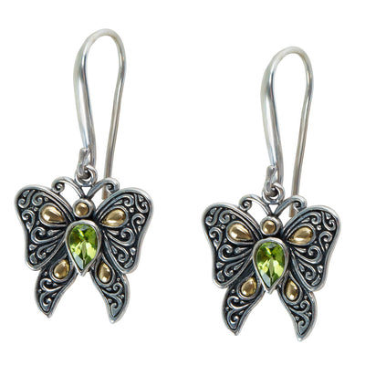 BRAND NEW Robert Manse Peridot Drop Earrings in Sterling Silver (1.0 cts)