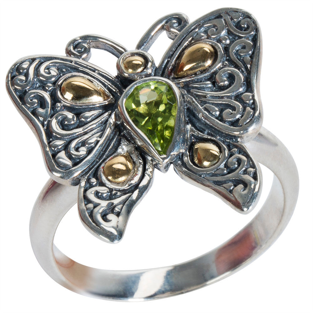 BRAND NEW Robert Manse Peridot Ring in Sterling Silver (0.5 cts)