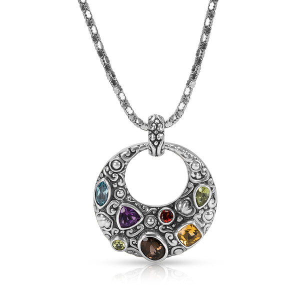Robert Manse Semi-Precious Necklace in Sterling Silver 2.27 ctw