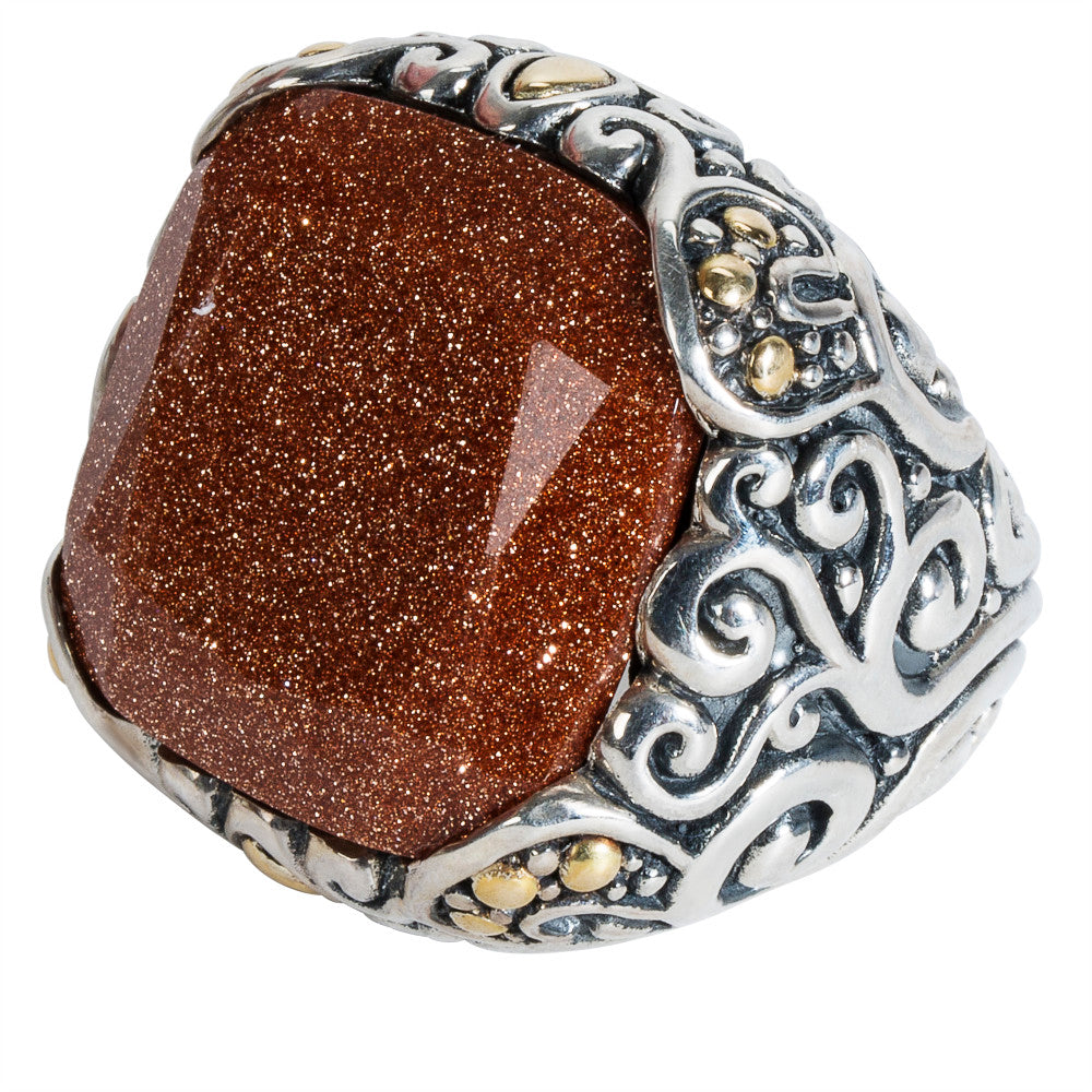BRAND NEW Robert Manse Sandstone Ring in Sterling Silver