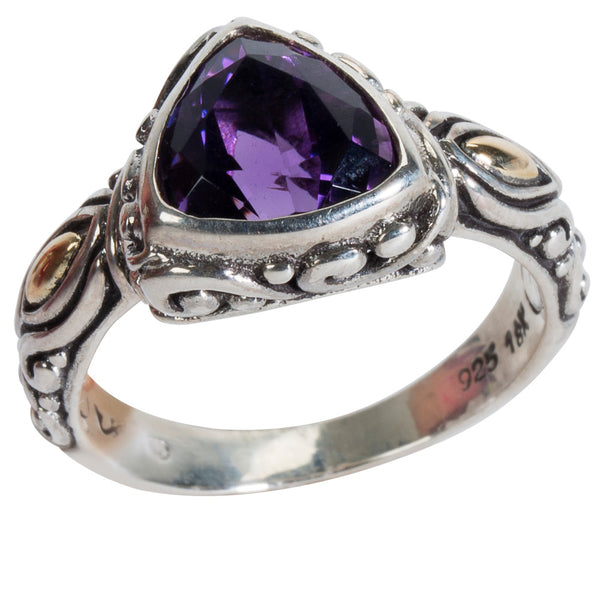 BRAND NEW Robert Manse Amethyst Ring in Sterling Silver (1.44 cts)