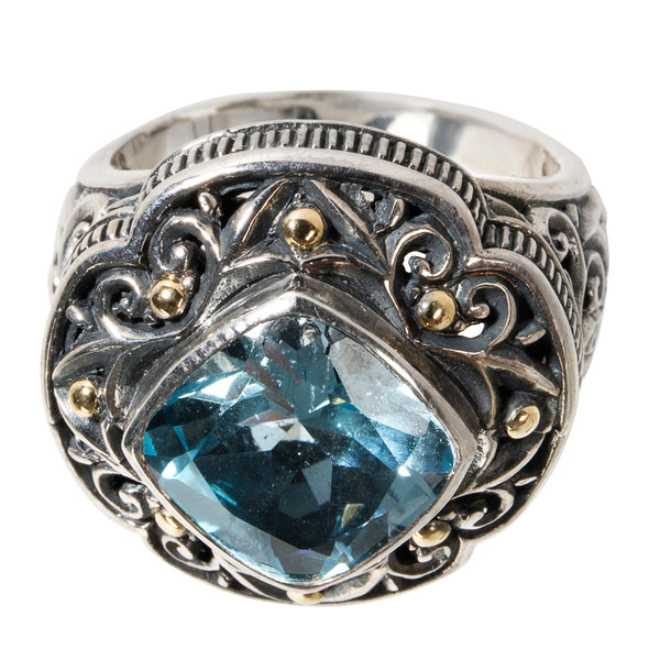 BRAND NEW Robert Manse Blue Topaz Ring in Sterling Silver
