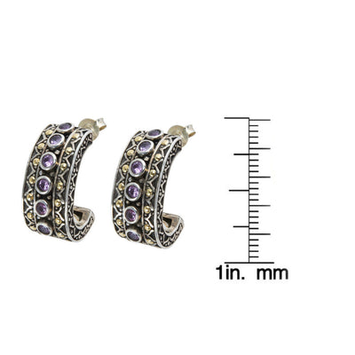 BRAND NEW Robert Manse Pink Sapphire Hoop Earrings in Sterling Silver (0.84 cts)