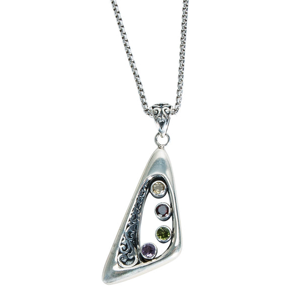 BRAND NEW Robert Manse Semi-Precious Pendant in Sterling Silver
