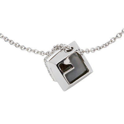 BRAND NEW Zydo Topaz & Diamond Pendant in 18K White Gold (0.98 CTW)