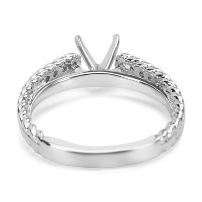 BRAND NEW Diamond Engagement Ring Setting in 14KT White Gold (0.25 CTW)