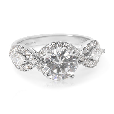 BRAND NEW Dehago Engagement Ring in 18K White Gold (0.36 CTW)