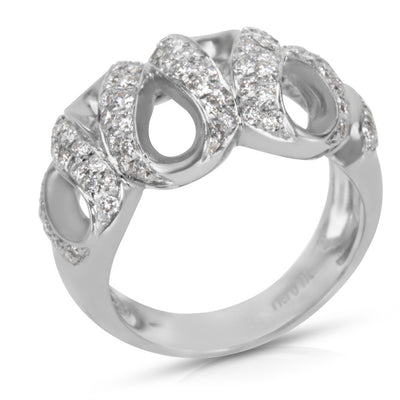 Diamond Cocktail Ring in 18K White Gold (0.75 CTW)