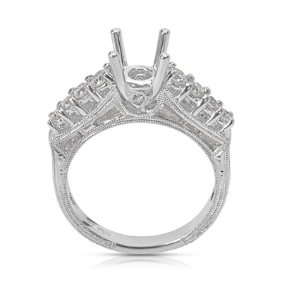 BRAND NEW Diamond Engagement Ring Setting in 18KT White Gold (0.87 CTW)