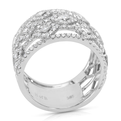 BRAND NEW Diamond Fashion Band in 14k White Gold (1.00 CTW)