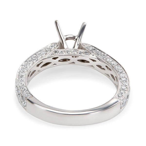 Diamond Engagement Ring Setting in 14K White Gold (1.20 CTW)