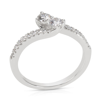 BRAND NEW Two Stone Diamond Ring in 14K White Gold (0.75 CTW)