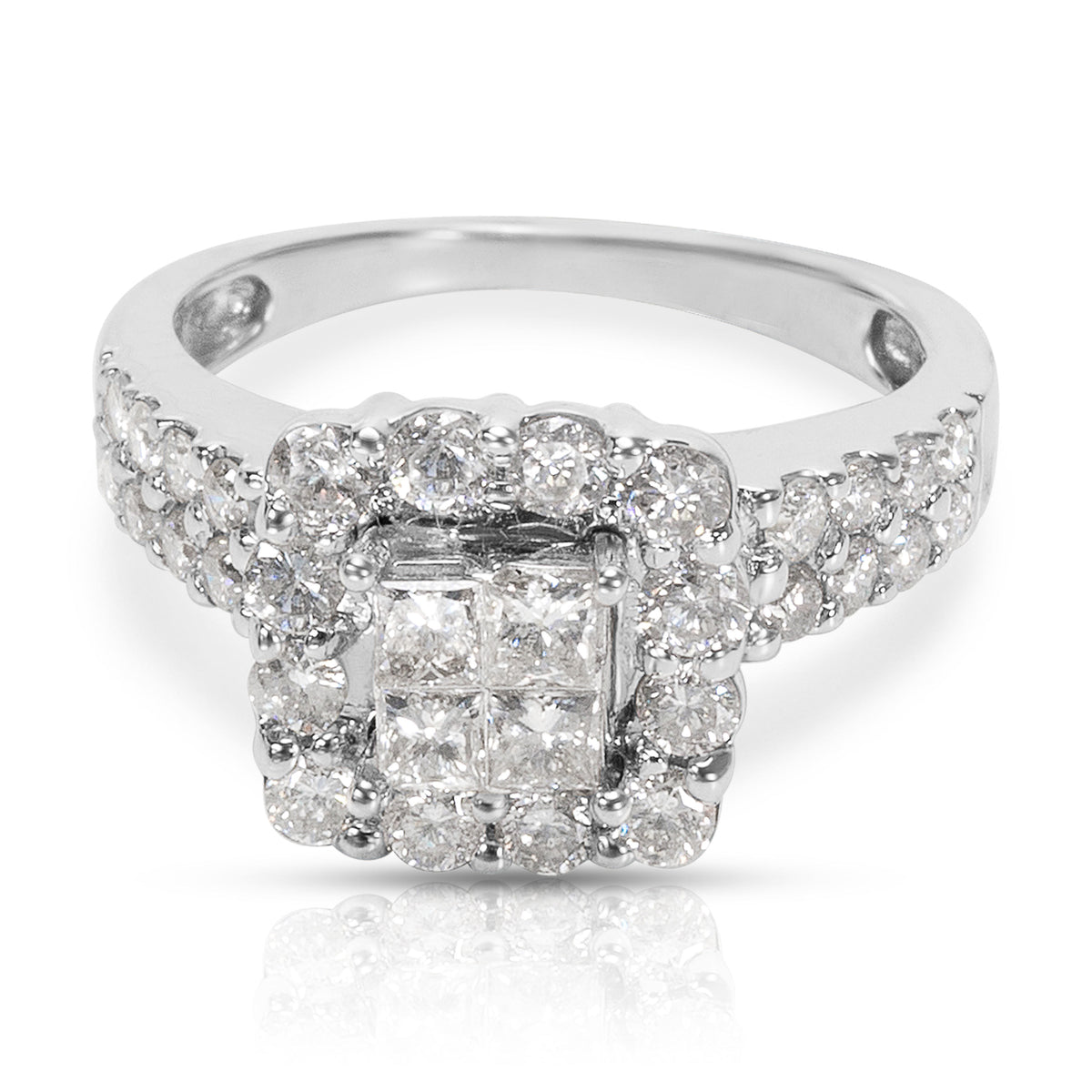 BRAND NEW Diamond Engagement Ring in 14K White Gold (1.25 CTW)