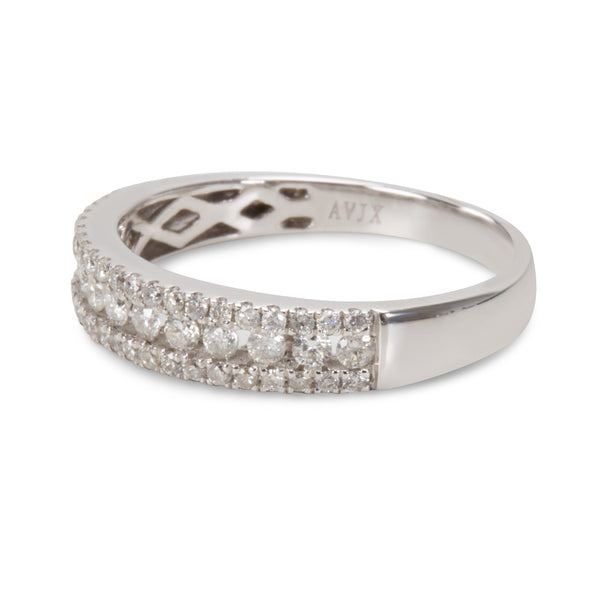 BRAND NEW Diamond Wedding Band in 14K White Gold (0.53 CTW)