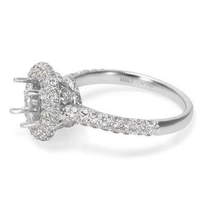 BRAND NEW Diamond Semi-Mount in 18K White Gold (1.01 CTW)