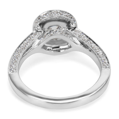 18K White Gold Semi Mount with Diamonds (0.79 CTW)
