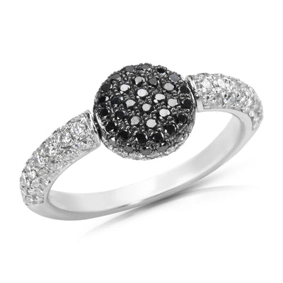 Black Diamond Flip Ring in 18K White Gold with Diamonds (1.50 CTW)