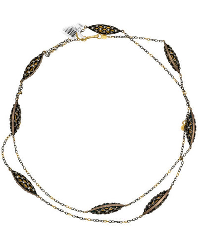 Gurhan Capitone Necklace with Diamonds in 24K and 4K Yellow Gold MSRP  21950