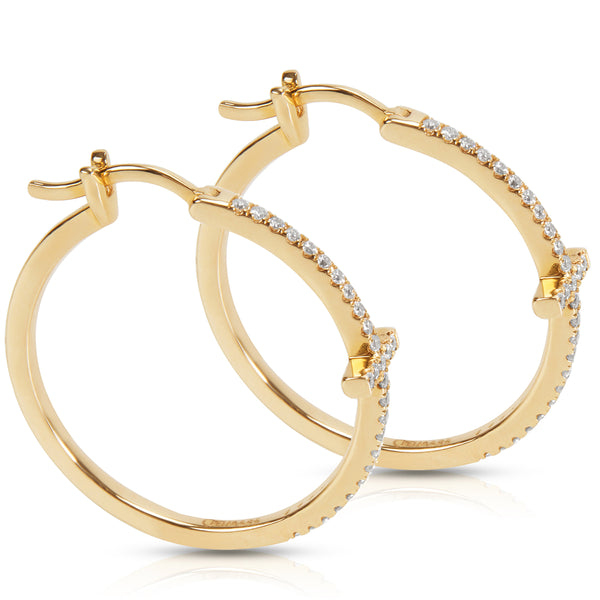BRAND NEW Diamond Hoop Earrings in 14K Yellow Gold (0.35 CTW)