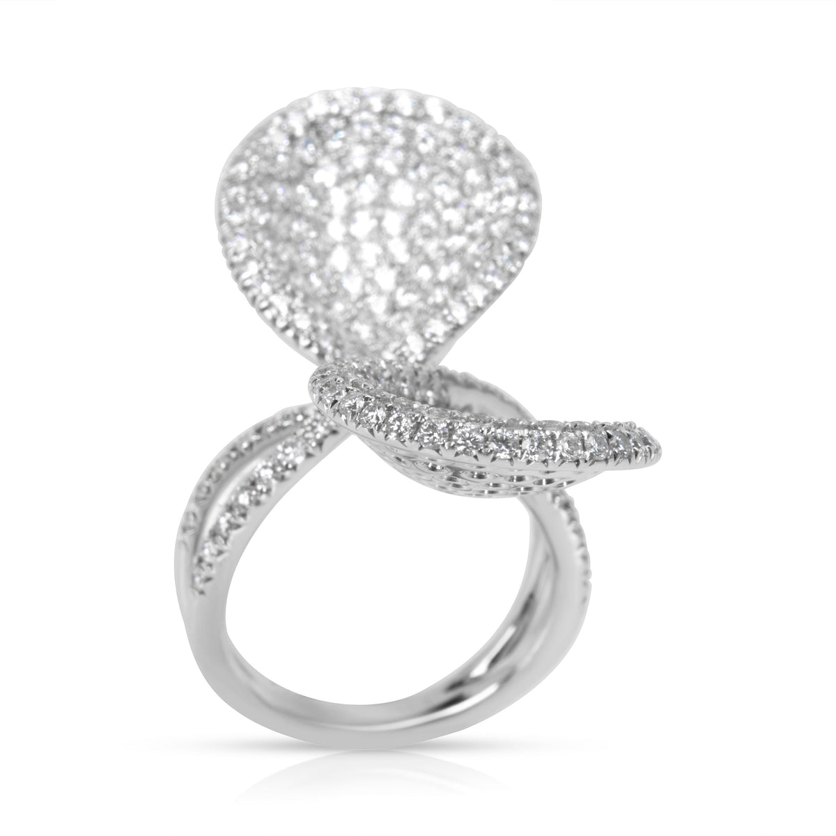BRAND NEW Diamond Pave Fashion Ring in 18K White Gold (4.00 CTW)