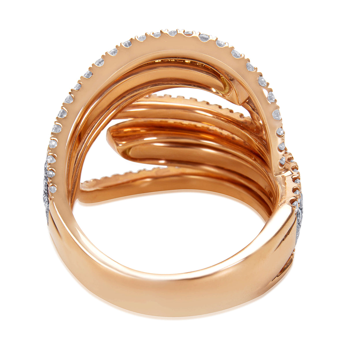 BRAND NEW Diamond Fashion Ring in 18k Rose Gold (1.79 CTW)
