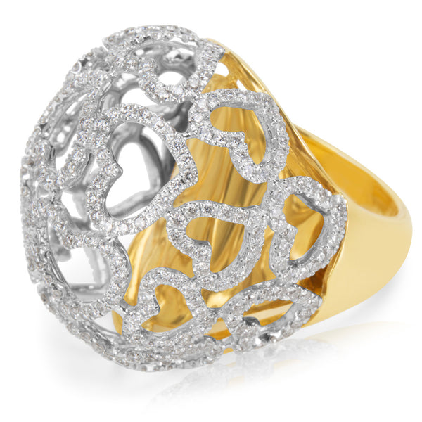BRAND NEW  Diamond Ring in 18KT Yellow Gold 1.97 ctw