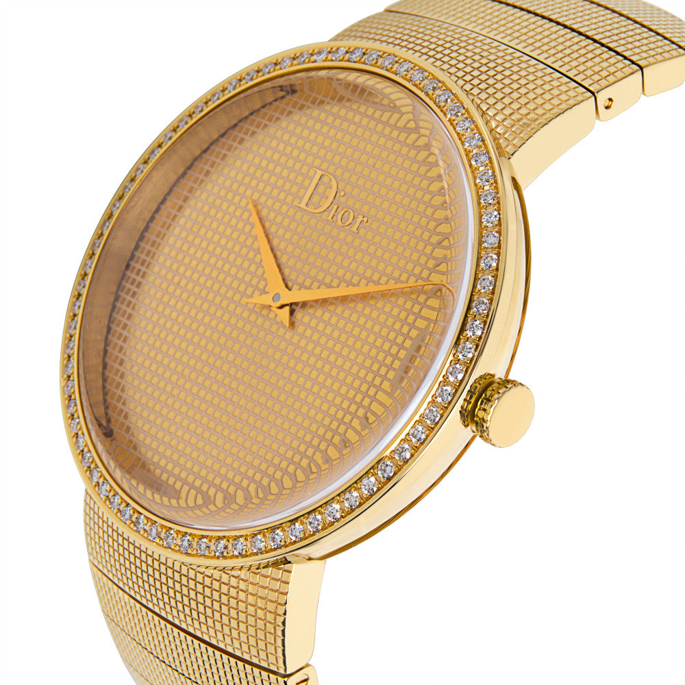 Dior Le D De Dior CD043151 Diamond Unisex Watch in 18K Yellow Gold