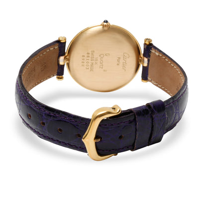 Cartier Vendome 8988 Women's Watch in 18K 3 Tone Gold