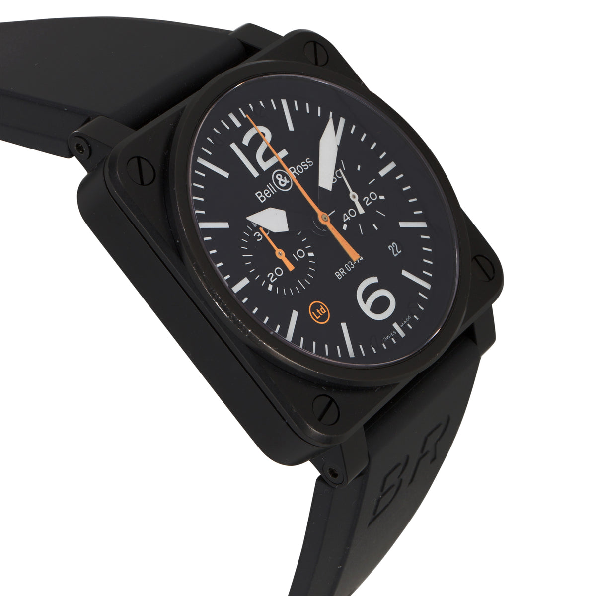 Bell and Ross Aviation BR03-94-0-CA Men's Automatic Watch in PVD